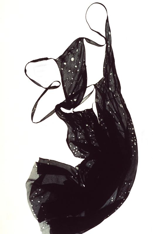 Kleid, Viskose, Ausbrenner
